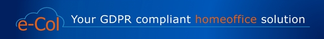 Picture ConsulTech GmbH GDPR-compliant E-Col Cloud Document Management 650x80px