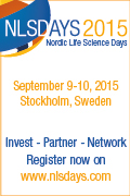 Banner SwedenBIO Nordic Life Science Days 2015 Stockholm 600x60px